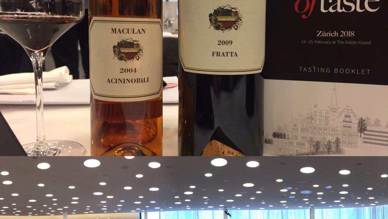 Maculan a Matter of Taste a Zurigo con Fratta e Acininobili